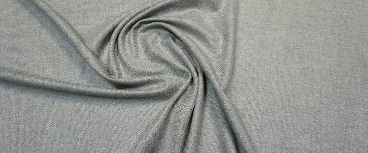 Schurwolle - weiß/grau