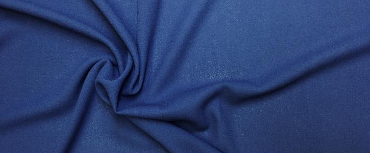 Schurwoll Crepe - blau