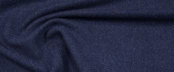 Schurwolle mit Kaschmir - jeansblau