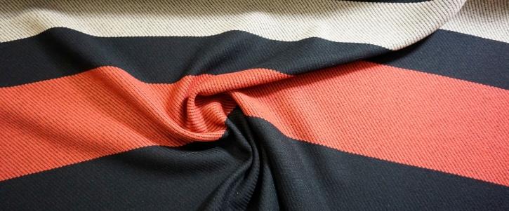 Mantelrapport - schwarz mit zwei Streifen