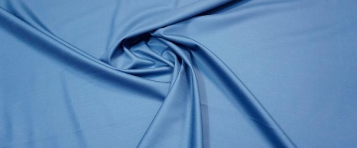 Doppelseitiger Schurwollstretch - taubenblau