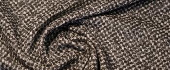 Schurwollmischung - grau mit creme