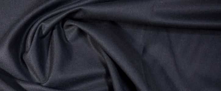 Schurwollstretch - schwarz