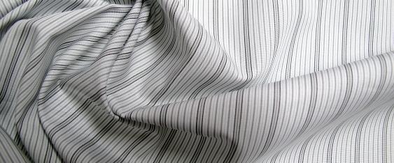 Coupon Blusen- und Hemdenware, grau/weiß