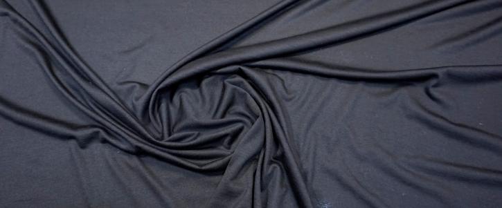 Schurwolljersey - schwarz