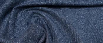 Schurwolle mit Seide - jeansblau