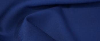 Schurwolle mit Seide - nachtblau