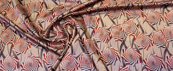 Schurwolle mit Seide - Spiralen