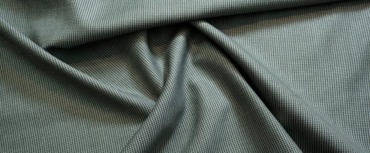 Schurwolle mit Seide - grau/schwarz