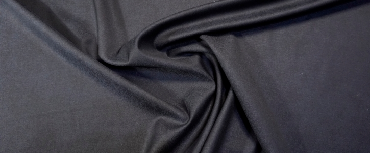 Schurwolle mit Seide - schwarzblau