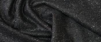 Tweed - Fischgrat schwarz/weiß