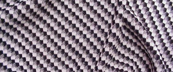 Schurwollmischung schwarz/weiß