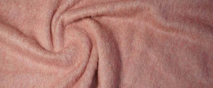 Schurwollmischung - rosa/weiß