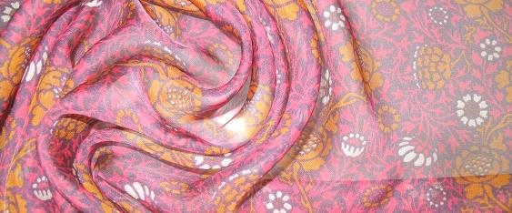 Chiffon in pink und orange