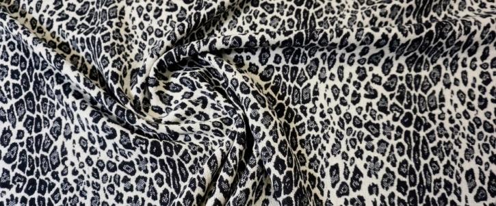 Schurwollmix - animalprint, schwarz/weiß