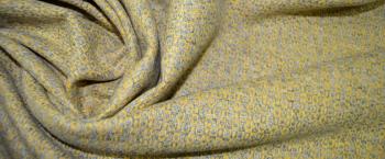 Schurwollmischung - gelb und grau