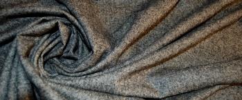 Schurwollmischung - schwarz-weiß