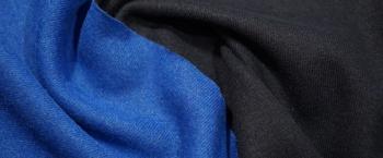 DoubleFaceJersey - schwarz/blau