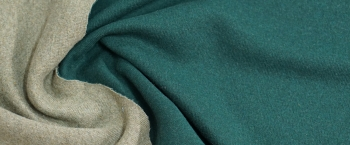 DoubleFaceJersey - smaragdgrün/schilf