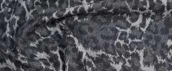 Schurwollmischung - grauer animalprint