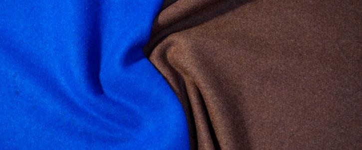 Double Face Jersey - braun/blau
