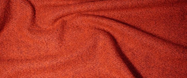 Schurwolle mit Polyamid - orange/rot