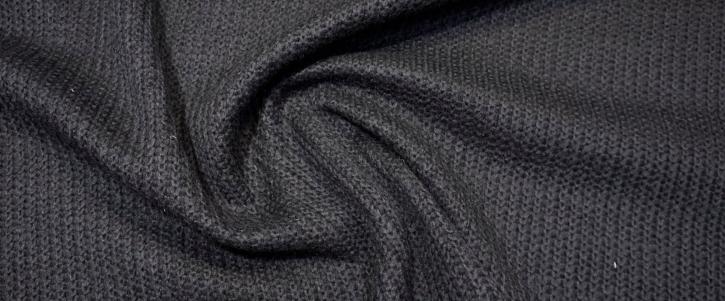 Schurwollstrick - schwarz