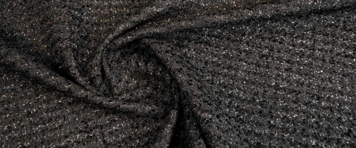 Boucle - schwarz mit silber