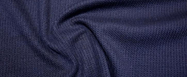 Schurwollstrick - dunkelblau