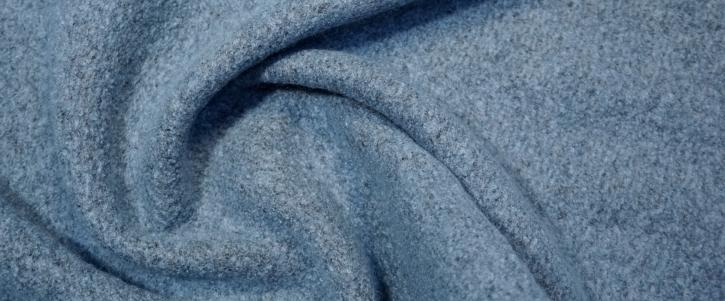 Schurwollmix - eisblau