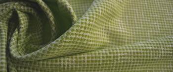 Schurwollmischung - pistazie und weiß