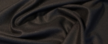 leicht gewalkte Strickware - schwarz