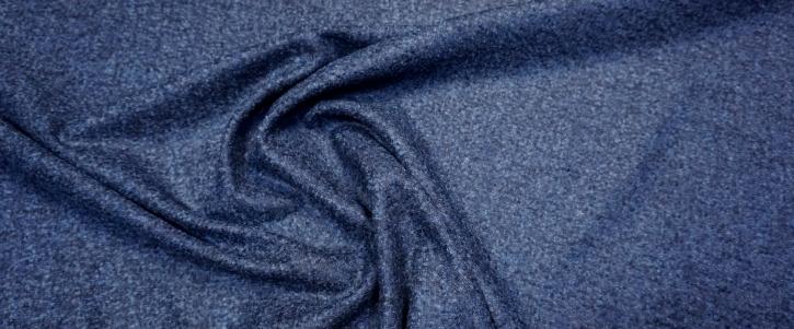 Schurwolle mit Alpaka - blau meliert