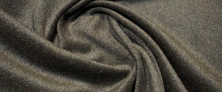 Schurwolle mit Alpaka - grauoliv
