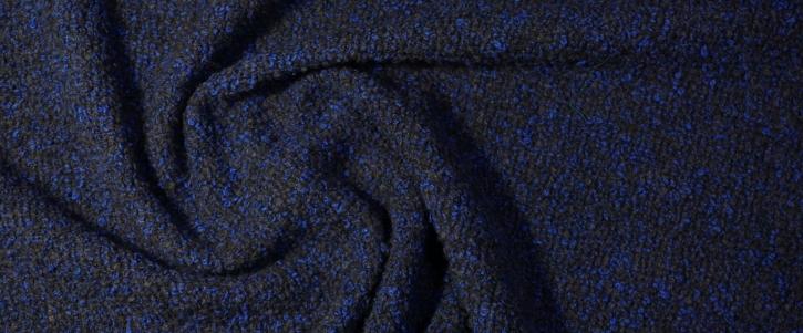 Schurwolle mit Alpaka - schwarz/blau