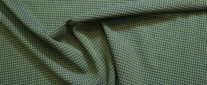 Schurwolle mit Viskose - grün/blau