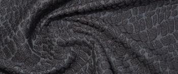 Schurwolle mit Baumwolle - schwarz
