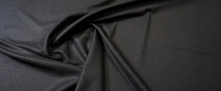 Schurwolle mit Kaschmir - schwarz