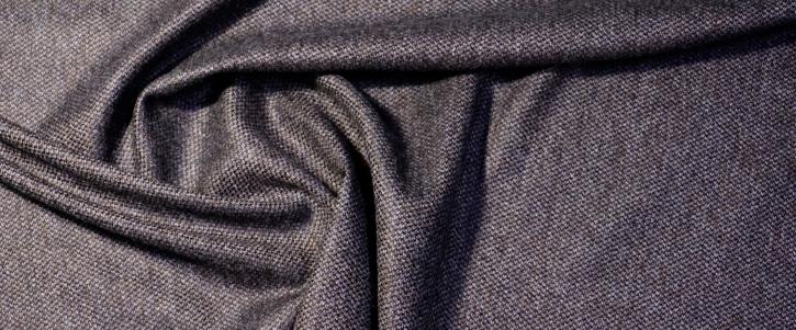 Schurwolle mit Kaschmir - grau/schwarz
