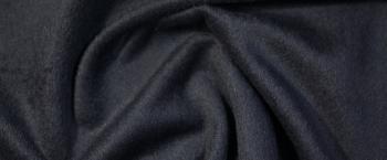 Schurwolle mit Kaschmir - nachtblau