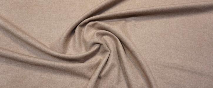 Schurwolle mit Kaschmir - beige meliert