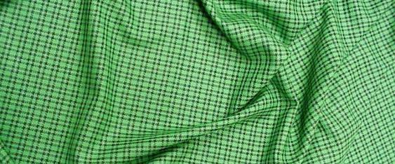 Schurwollmischung Karo auf grün