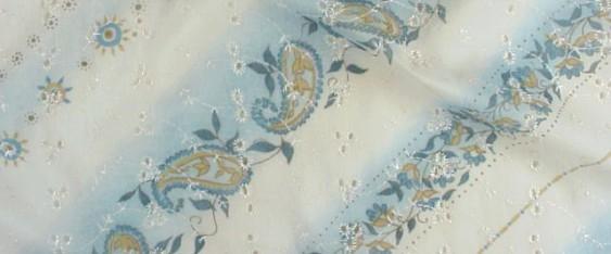 Coupon Batist bleu/weiß