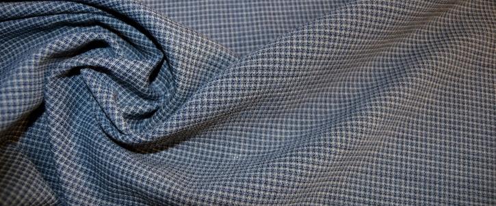 Schurwollmischung - blau und weiß