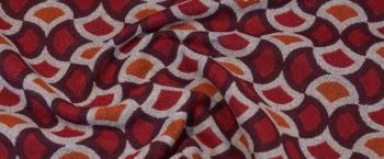 Schurwollmischung - rot/orange