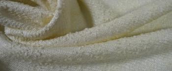 Schurwollmischung - elfenbein