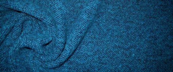 Schurwollmischung - petrol und blau
