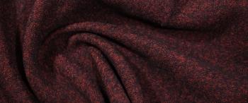 Schurwollmischung - rot und schwarz