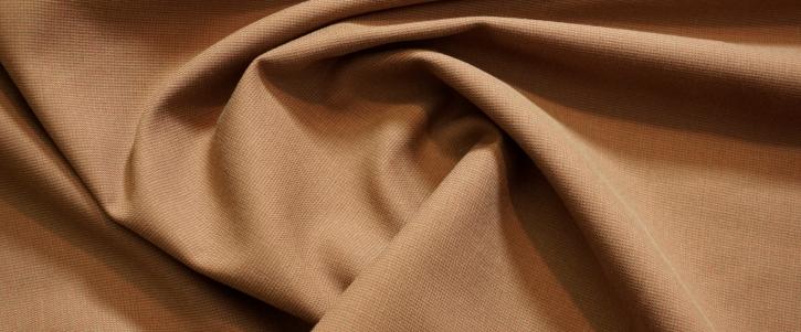 Schurwolle mit Baumwolle - braun/rot