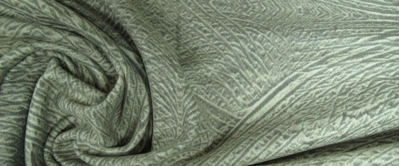 Schurwollmischung - Reliefmotiv in grau/beige
